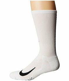 Nike Men's Elite Running Cushion Crew Socks White XL SX5460-100 #Nike Running Socks, Nike Running, Black Socks, Black Nylons, Nike Elite Socks, Nike Models, Nike Dri Fit, Crew Socks, Nike Men