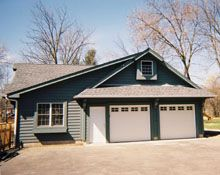 Blue Sky Builders has been building custom garages in Chicago & the Western suburbs since Looking for a new garage? Custom Garages, Dream Garage, Cabin, Sky, House Styles, Building, Outdoor Decor, Blue, Heaven