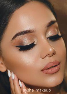Bride Makeup Natural, Soft Bridal Makeup, Wedding Eye Makeup, Bride Eye Makeup, Winter Wedding Makeup, Wedding Makeup For Brunettes, Soft Makeup Looks, Glam Makeup Look, Glamour Makeup Looks