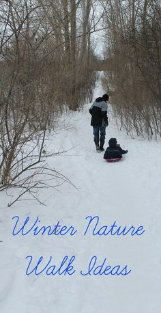Winter Nature Walk Ideas - How Wee Learn- Still snowy? Us too – but don't worry there is lots of fun snow activities! Here are some awesome winter nature walk ideas to tie you over until Spring! Snow Activities, Nature Activities, Kids Learning Activities, Science Nature, Outdoor Activities, Outdoor Learning, Montessori Activities, Family Activities, Toddler Activities