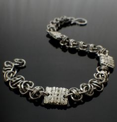 Twist of Fate Square On Square Stainless Steel Chainmail Bracelet Kit - Barrel Weave