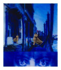 TJ Wilcox .Casati Nocturne, 2008 Acetate, colored gel, gold leaf on plexiglass, 101.6 x 85.1 cm Enea Righi Collection, courtesy Galleria Raffaella Cortese, Milan Photo © Antonio Maniscalco