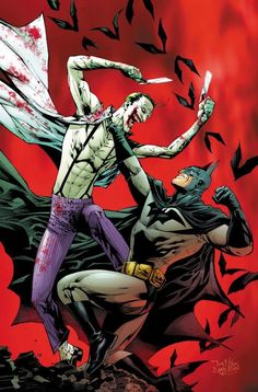 Batman vs Joker by Tony S. Daniel (from Batman - Batman Art - Ideas of Batman Art #batman #art #batmanart - Batman vs Joker by Tony S. Daniel (from Batman R.I.P written by Grant Morrison)