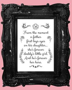 Girls bedroom art print. Father daughter. Father by CupidDesigns, $15.00