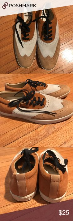 Generic Surplus oxford style sneakers size 9.5 Gently worn Generic Surplus wing tip style sneakers size 9.5. Suede / leather upper and a rubber sole. Sand and brown tones make these shoes perfect for spring. Generic Surplus, Los Angeles Calif. Shoes
