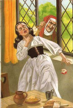 Snow White And The Seven Dwarfs - Snow White falls down dead