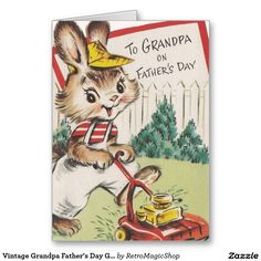 Shop Vintage Grandpa Father's Day Greeting Card created by RetroMagicShop. Father's Day Greeting Cards, Custom Greeting Cards, Father's Day Greetings, Kids Party Supplies, Fathers Day Cards, Cute Bunny, Zazzle Invitations, Thoughtful Gifts, Your Cards