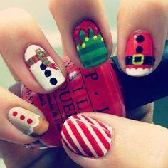 Misc Christmas Nail Art | #christmasnails #nailart #christmasnailart #xmasnails