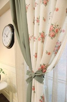 Dazzling Outdoor Blinds Ideas 4 Perfect Tips: Roller Blinds Nursery roller blinds at home.Roller Blinds At Home bamboo blinds upcycle.Bathroom Blinds And Curtains. Rose Curtains, Floral Curtains, Custom Curtains, Curtains With Blinds, Diy Blinds, Sheer Blinds, Window Blinds, Cottage Curtains, Privacy Blinds