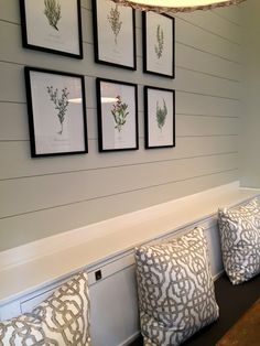 COTTAGE AND VINE:  free botanical prints from A Daily Something & shiplap DIY