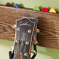 Guitar rack with a place for picks!