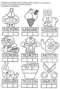 Resultado de imagen para pinterest escritura de palabras primer grado actividades