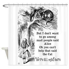 Vintage Alice in Wonderland Cat Shower Curtain Alice And Wonderland Quotes, Adventures In Wonderland, Wonderland Party, Alice In Wonderland Artwork, Wonderland Tattoo, Alice In Wonderland Illustrations, John Tenniel, Lewis Carroll Zitate, Cheshire Cat Quotes