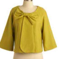 ModCloth Lemongrass Green Jacket