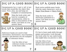 #FreebieFriday ~ Dig Up A Good Book Book Form Literacy Center #TPT #Free