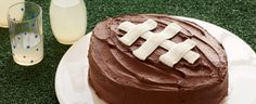 This Football Cake is perfect for the next tailgate party! Every football fan will love this easy-to-make, moist and delicious Duncan Hines Devil's Food Cake. It's fun to decorate and to display. And even more fun to eat. Tailgating Recipes, Tailgate Food, Tailgate Parties, Football Snacks, College Football, Duncan Hines, Game Day Food, Party Shop, Perfect Party