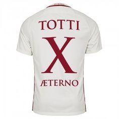 AS Roma Totti X AETERNO 2016-17 Season Away Giallorossi All Patches Shirt [K514]