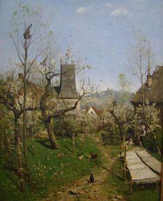"Karl Buchholz""Spring in the village"" (1872)"