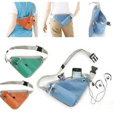 Wholesale Multifunction Waist Bag Running Jogging Waterbottle Pack Trangle Pouch
