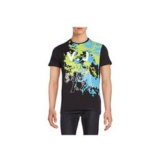 Versace Jeans Tiger Graphic Tee ($90) ❤ liked on Polyvore featuring men's fashion, men's clothing, men's shirts, men's t-shirts, nero, mens crew neck t shirts, mens short sleeve shirts, j crew mens shirts, mens short sleeve cotton shirts and mens cotton shirts