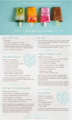 How-To Make Healthy Ice Pops | Move Nourish Believe