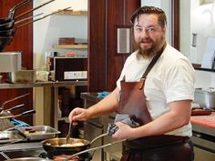 Chef Eric Bulpitt in the kitchen of Pierneef Restaurant on La Motte wine estate in Franschhoek
