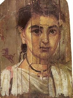 Boy from Al-Fayum, 2nd century, Warsaw. Encaustic on wood