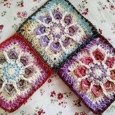 Yardage suggestions for the #WinterFlowerGranny from MadMadme.com