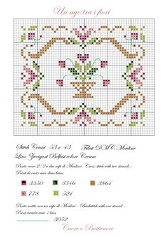 Dutch Tulip Free Cross Stitch Pattern Chart ~ Pretty soft p Small Cross Stitch, Cross Stitch Heart, Cross Stitch Borders, Cross Stitch Samplers, Cross Stitch Flowers, Cross Stitch Designs, Cross Stitching, Cross Stitch Embroidery, Free Cross Stitch Charts