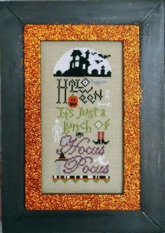 Just A Bunch of Hocus Pocus is the title of this Pine Mountain Linen Kit which includes the fabric and pattern. You supply the fibers and fr...