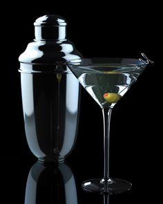 Martini with a shaker    (23 Fun Variations on the Classic Martini)