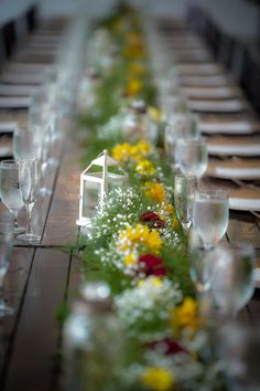 Farm Table wedding in White Barn Farm Table Wedding, Ranch Weddings, White Barn, Wedding Venues, Rustic, Table Decorations, Home Decor, Wedding Reception Venues, Wedding Places