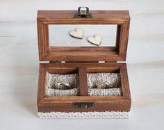 Wedding Ring Box Engraved Ring Bearer Box Rustic Wedding Box Proposal Box Glass Ring Box Wedding Holder Personalized Ring Box Еngagement Box