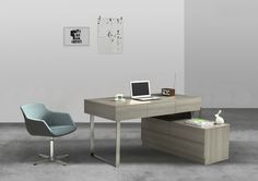 Modern Corner Desk with Shelves Modern Corner Desk, Contemporary Office Desk, Modern Office Desk, Office Computer Desk, Home Office Desks, Desk With Keyboard Tray, Office Furniture Manufacturers, Desk Shelves, Home Desk
