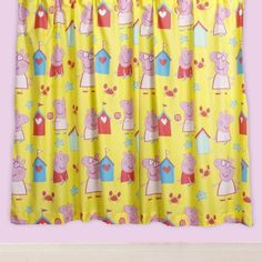 Peppa Pig Seaside 66×54 pair of curtains by Trademark