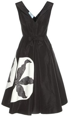 Prada Printed Silk Dress