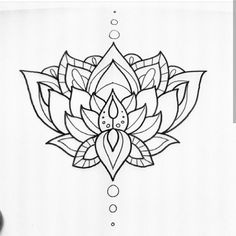 Buddhist lotus flower tattoo design (future tattoo)