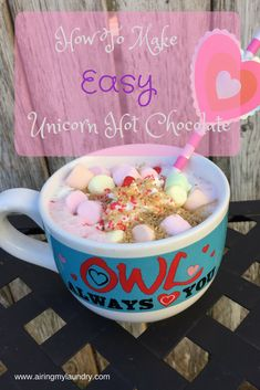 """Mommy! Unicorn hot chocolate EXISTS!"" my daughter Natalie shrieked at me. She practically shoved her iPad up my nose. ""See? See? See?""   Ap..."