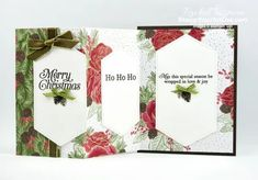 See how to make five different card variations from one folded piece of designer paper! I shared two finished cards with one of the folds a few days ago. And now I have finished versions of the four other folds. All of these feature the Christmastime is Here Designer Paper. Click here to access measurements, directions, a link to the how-to video from a previous post, other close-up photos, and links to the products I used. - Stampin' Up!® - Stamp Your Art Out! www.stampyourartout.com #s... Healing Hugs, Create Christmas Cards, Online Paper, Fun Fold Cards, Specialty Paper, Close Up Photos, Card Making Inspiration, Paper Pumpkin, Paper Design