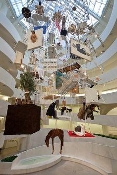 Maurizio Cattelan, at the Guggenheim