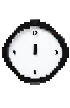 The Pixel Time Wall Clock by Mustard