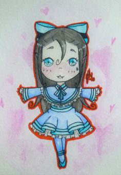 OC: Lola the hybrid vampire is in the spotlight with all her adorable cuteness and she twirls her way into everyone's heart. See her @ http://jenibearx3.deviantart.com/art/Little-Ballerina-627968689    Watch her speed painting @ https://youtu.be/5m1PyfA0g28    And for more awesome products go to http://www.redbubble.com/people/jenibearx3/works/22815243-little-ballerina?asc=u