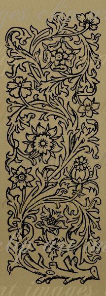Idea para una cenefa floral 2