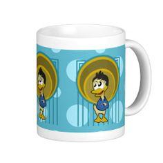 Mug with duck cartoon