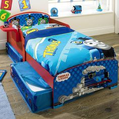 toys r us Thomas The Tank Engine Toddler Bed with Storage