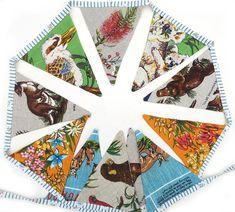 BUNTING Australian Animals & Wildflowers Linen Fabric Flags | Etsy Pretty Flowers, Wild Flowers, Caravan Decor, Tiny Gifts, Bunting Flags, Australian Animals, Banner, Handmade Decorations, Birthday Presents