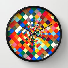 Colorful Nite Wall Clock by Danny Ivan - $30.00