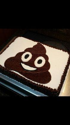 Poop emoji cake                                                                                                                                                     More                                                                                                                                                                                 More