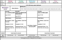 Third Grade Common Core Lesson Plan Template Teaching Upper