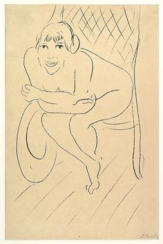 """Henri Matisse """"Nude Seated in a Rocking Chair"""" 1913 Lithograph Matisse Drawing, Matisse Paintings, Henri Matisse, Life Drawing, Figure Drawing, Free Illustrations, Illustration Art, Picasso, Collages"""